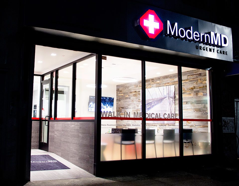 Outside one of modernmd's locations