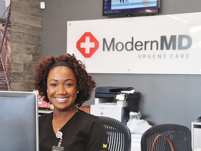 happy modern md employee